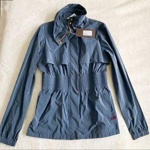 NWT Authentic Gucci Zip Mid Length Rain Jacket
